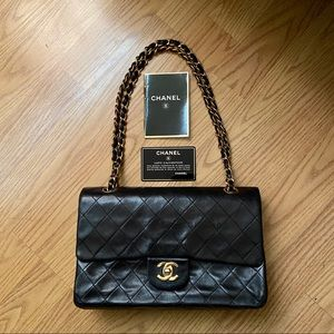 $5000 Retail CHANEL Lambskin Double Flap Bag